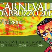 Locandina del Carnevale d'Abruzzo, edizione 2014
